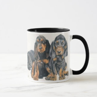 Black and Tan Coonhound Puppies Mug