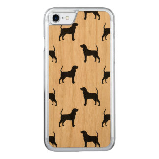 Black and Tan Coonhound Silhouettes Pattern Carved iPhone 8/7 Case