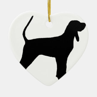 black and tan coonhound silo black ceramic ornament