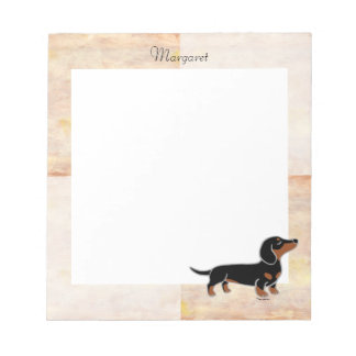 Black and Tan Dachshund Posing Notepad