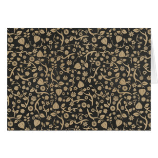 Black and Tan Flower Pattern Cards