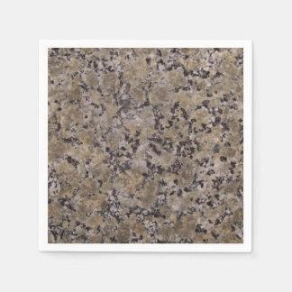 Black and Tan Granite Disposable Napkins