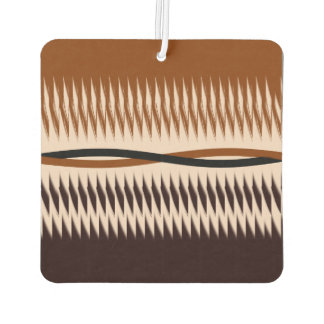 Black and Tan Modern Print Car Air Freshener