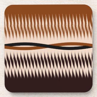 Black and Tan Modern Print Coaster