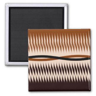 Black and Tan Modern Print Magnet