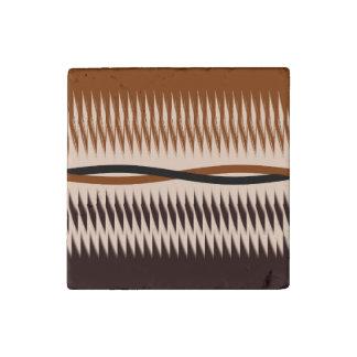 Black and Tan Modern Print Stone Magnet