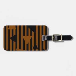Black and Tan Personalized Luggage Tag