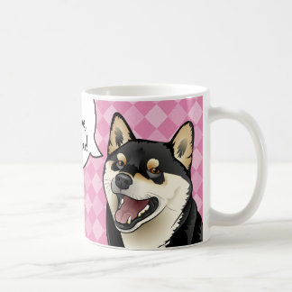 Black and Tan Shiba Inu Japanese Dogs are Love mug