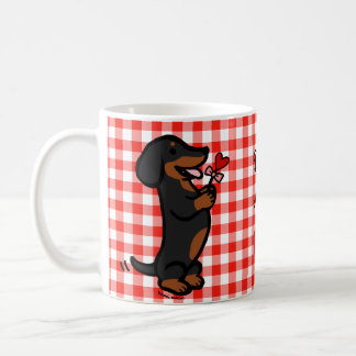 Black and Tan Smooth Haired Dachshund Coffee Mug