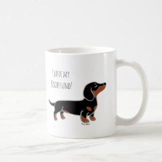 Black and Tan Smooth Posing Dachshund Coffee Mug