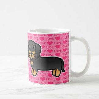 Black And Tan Wirehaired Dachshund Love Coffee Mugs