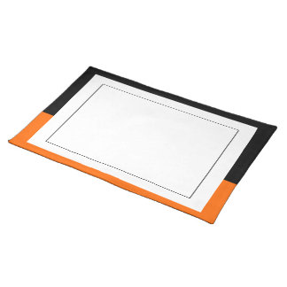 Black and Tangerine Border Placemat