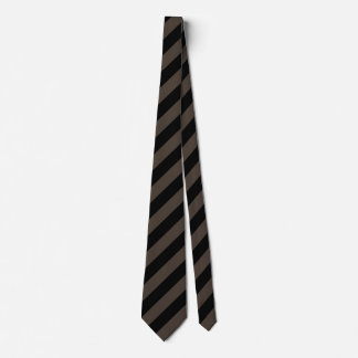Black and Taupe Diagonal Stripes Tie