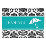 Black and Teal Bridal Shower Thank You