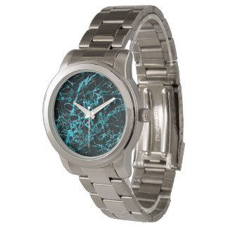 Black and Teal Marble, Watch