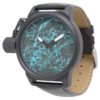 Black and Teal Marble, Wristwatch