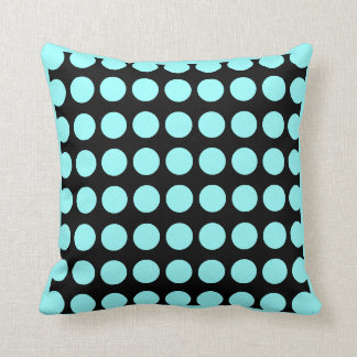 Black and teal  modern  pillow
