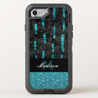 Black and Turquoise Pattern Trendy Otterbox Cases