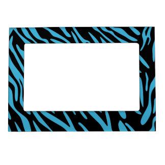 Black and Turquoise Zebra Magnet Photo Frame