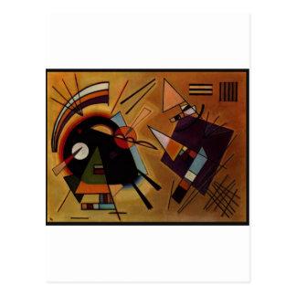 Black and Violet Kandinsky Cartões Postais