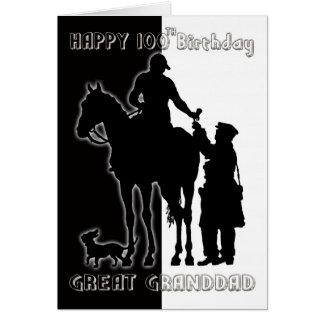 Black and White 100th Birthday Card Greatgrandad