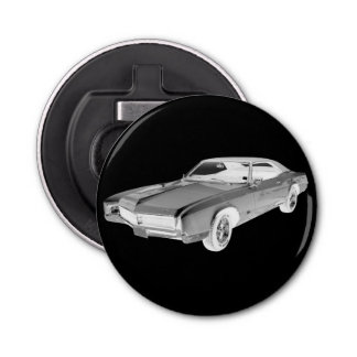 Black And White 1967 Buick Riviera Pop Art Bottle Opener