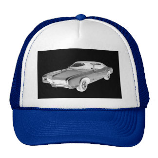 Black And White 1967 Buick Riviera Pop Art Cap