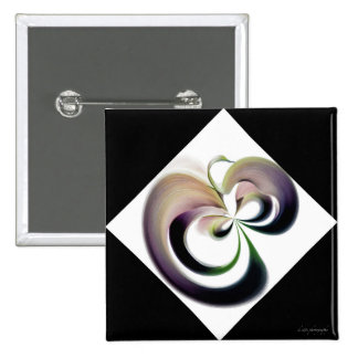Black and White Abstract 15 Cm Square Badge