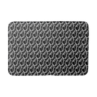 """""""Black and White Abstract"""" Bath Mat"""