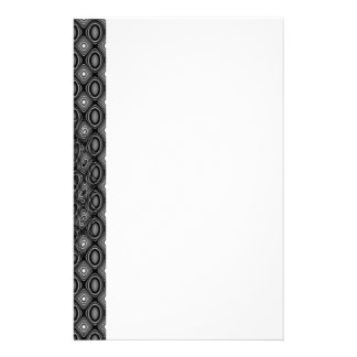 Black and white abstract border stationery