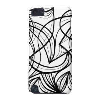 Black and White Abstract iPod Touch 5G Covers