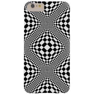 Black and White Abstract Design Barely There iPhone 6 Plus Case
