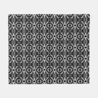 """Black and White Abstract"" Fleece Blanket"