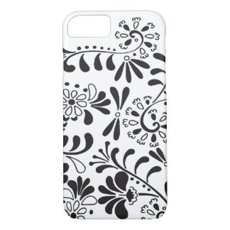Black and white abstract flowers iPhone 8/7 case