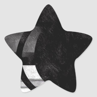 Black and White Abstract Grunge Star Sticker
