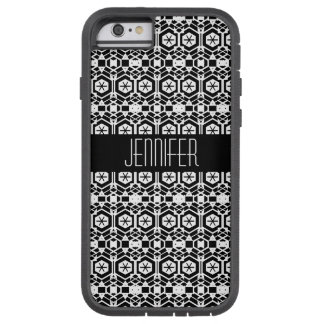 Black and White Abstract Hexagon Pattern Tough Xtreme iPhone 6 Case
