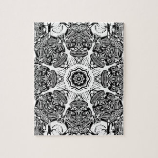 Black And White Abstract Jigsaw Puzzle