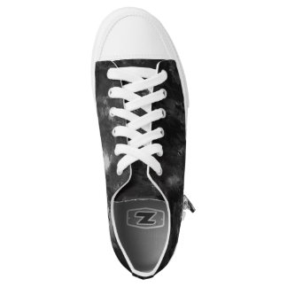 Black and White Abstract Low Tops