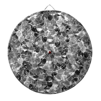 Black and White Abstract Mermaid Scales Pattern Dartboard