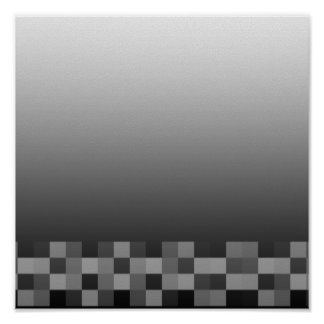 Black and White Abstract Modern Design. Print