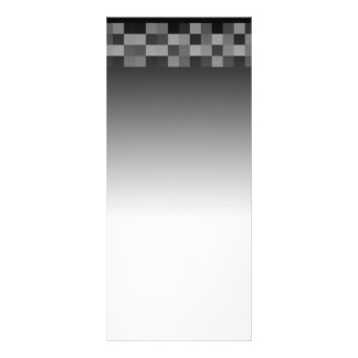 Black and White Abstract Modern Design. Rack Card Template
