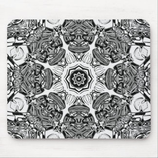 Black And White Abstract Mouse Pad