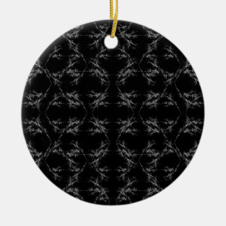 Black and White Abstract Pattern Ornaments