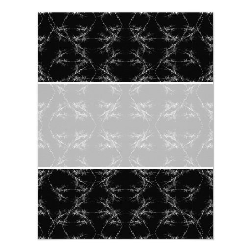 Black and White Abstract Pattern Announcements