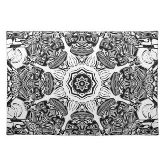 Black And White Abstract Placemat