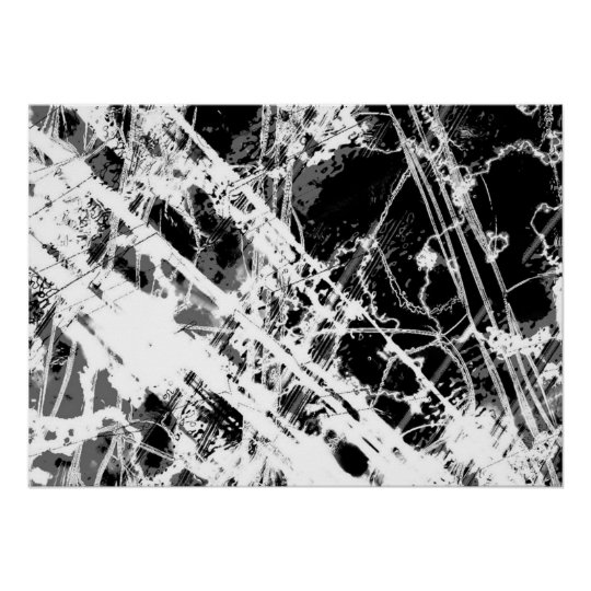 Black And White Abstract Poster