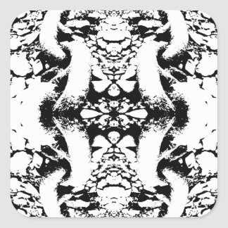 Black and White Abstract. Stickers