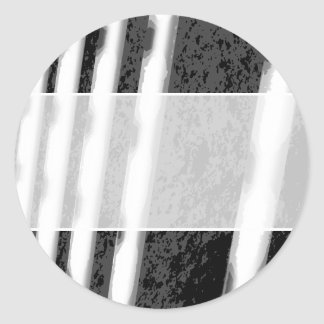 Black and White Abstract Stripes. Stickers