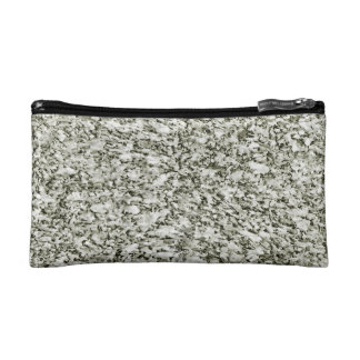 Black and White Abstract Texture Makeup Bags