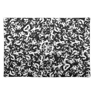 Black and White Abstract Texture Placemat